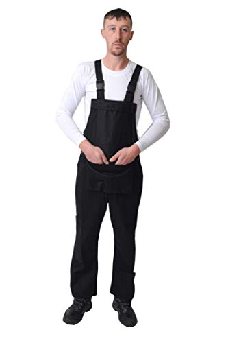 Road Master Bib and Brace Dungaree Overalls Painters Suit For Decorators Builders, Black, XX Large - 44 from Roadmaster