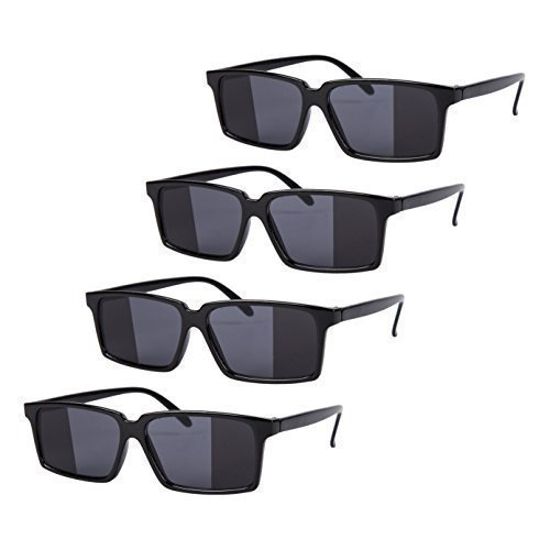 4 x Black Mirror Rear View Spy Glasses from Robelli