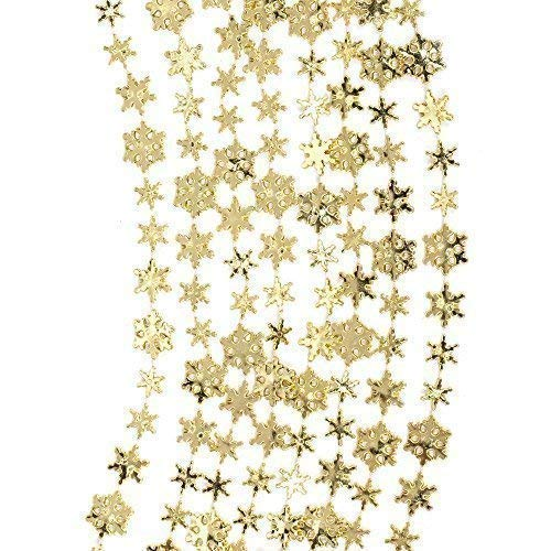 Robelli Christmas Tree Snowflake Chain Garland Decoration - 10 meters (Gold) from Robelli