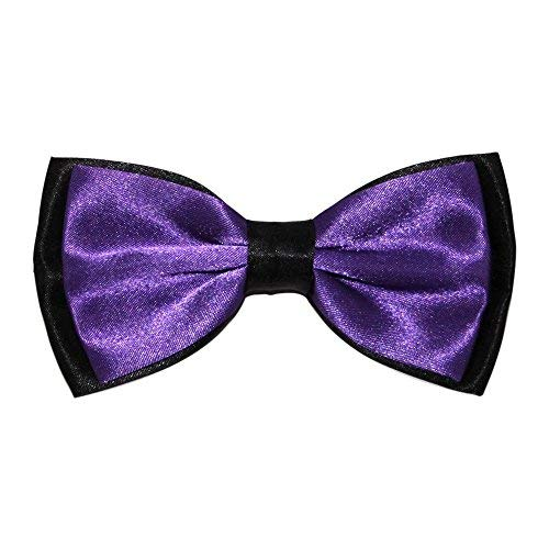 Contrasting Colour Bow Ties – Cadbury's Purple/Black from Robelli