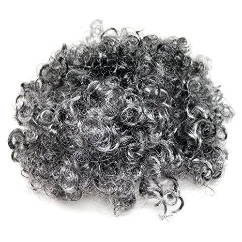 Kids / Adults Granny Fancy Dress Grey Curly Wig (WORLD BOOK WEEK / DAY) from Robelli