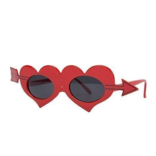 Novelty Red Love Heart Valentines Cupid Fancy Dress Glasses from Robelli