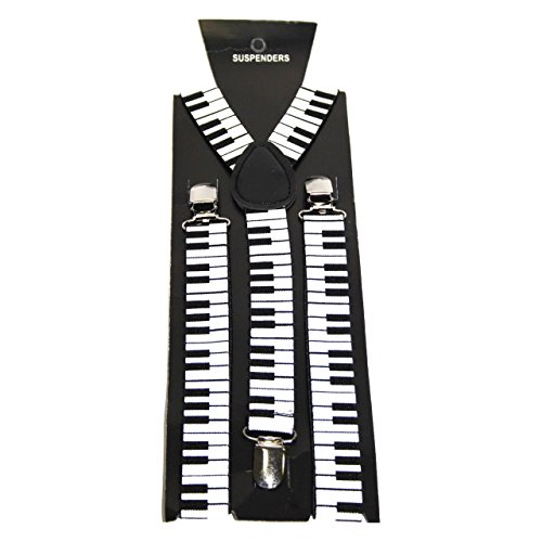 Novelty Suspenders/Braces – Musical Keyboard from Robelli