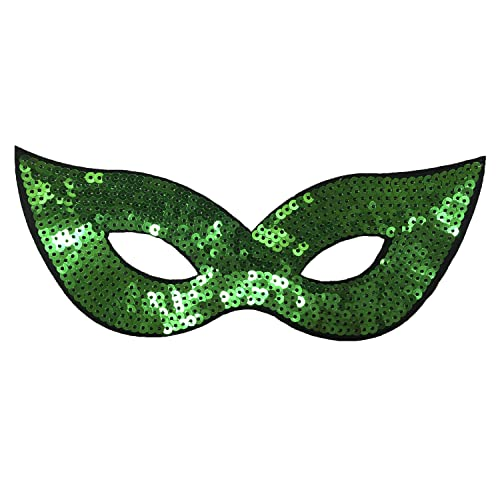 Women's / Girls Sparkle Green Ivy Masquerade Mask from Robelli