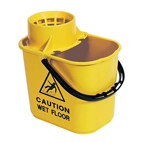 Contico Professional  15 L,  Socket Mop Bucket with High Profile Wringer -Yellow from Contico