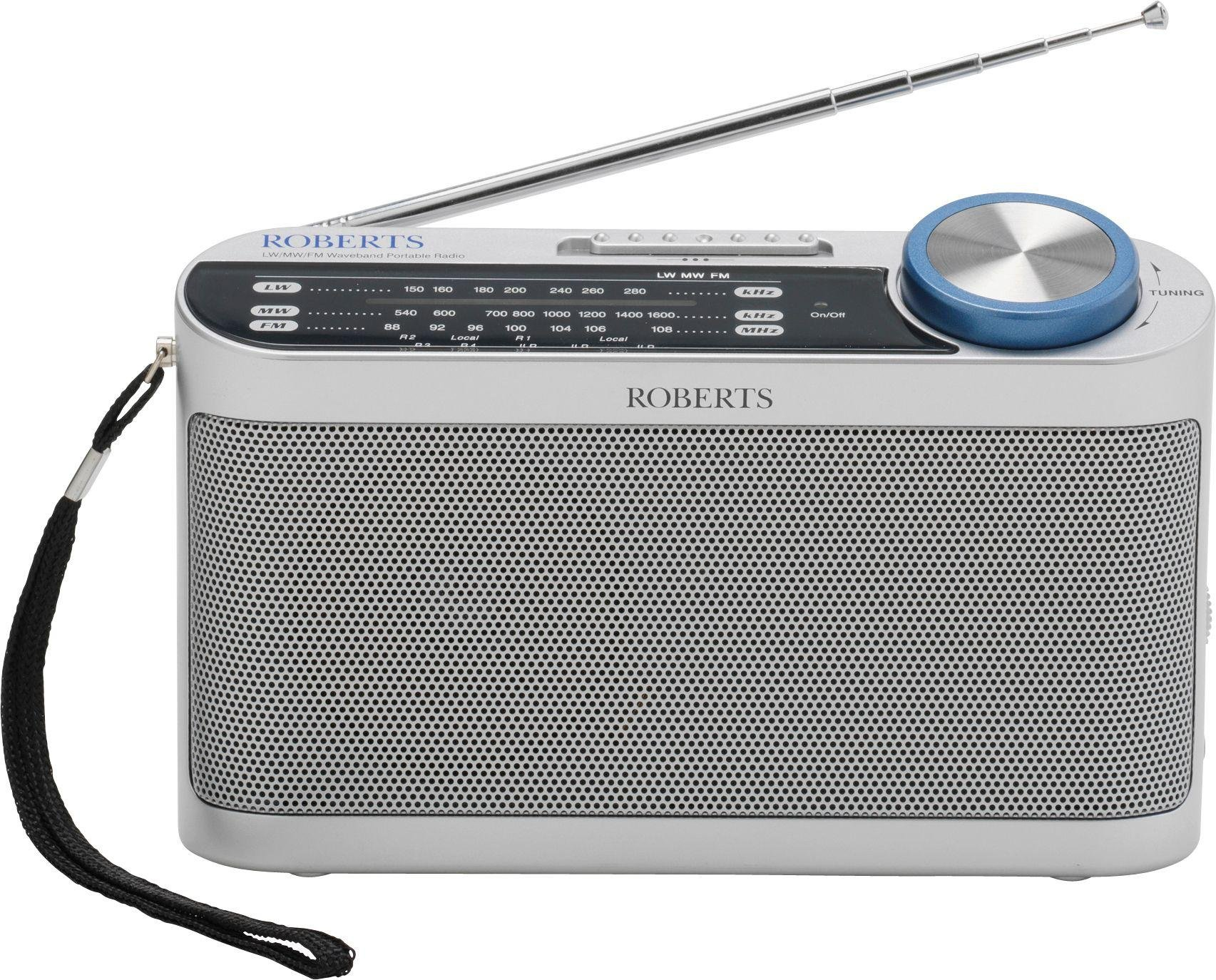 Roberts - Portable Radio - Silver from Roberts