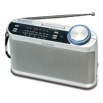 Roberts R9993 3 Band Analogue Radio in White LW MW FM Wavebands from Roberts