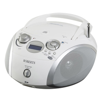 Roberts ZOOMBOX 3 Portable DAB Radio with CD Player SD USB in White from Roberts