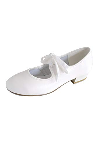 Girls roch Valley tap shoes WHITE sizes child 5 to 4 (12.5 child uk) from Roch Valley