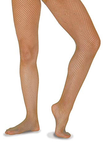 Roch Valley Economy Fishnet Tights Tan One Size from Roch Valley
