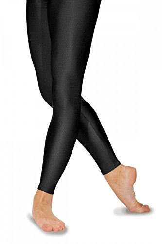 Roch Valley Footless Nylon/Lycra Tights Age 7-8 Black from Roch Valley
