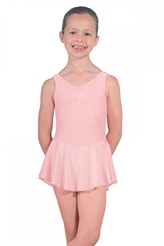 Roch Valley Women's ISTDJ Lycra Leotard with Skirt, Pale Pink, Age 11-13 from Roch Valley