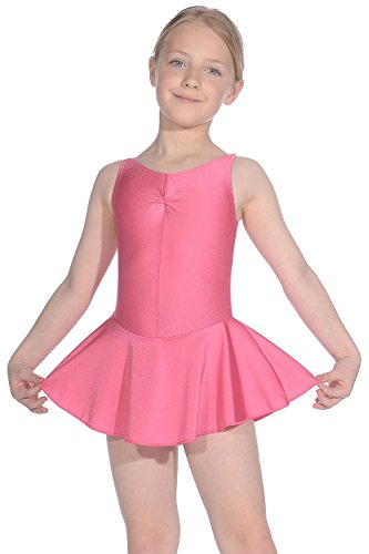Roch Valley Women's ISTDJ Lycra Leotard with Skirt, Rose Pink, Age 9-10 from Roch Valley
