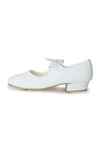 Roch Valley 'LHC' Low Heel Canvas Tap Shoe White 8 UK infant / 25.5 EU from Roch Valley