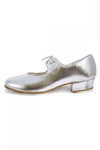 Roch Valley 'LHPS' Silver Tap Shoes Silver 13.5 UK / 32.5 EU from Roch Valley