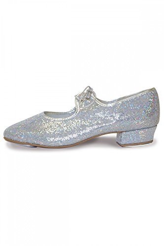 Roch Valley Low Heel Hologram Tap Shoes 1 Silver Hologram from Roch Valley