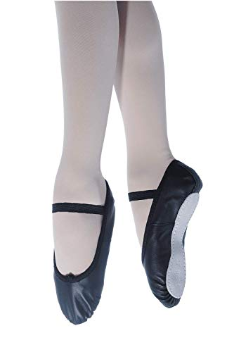 Roch Valley Ophelia Full Sole Leather Ballet Shoes 11 Black from Roch Valley