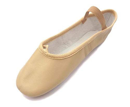 Roch Valley Ophelia Leather Ballet Shoes Full Suede Sole Pre-Attached Elastics New Improved Sizing! (3.5 EUR 36.5 (Adult), Pink) from Roch Valley