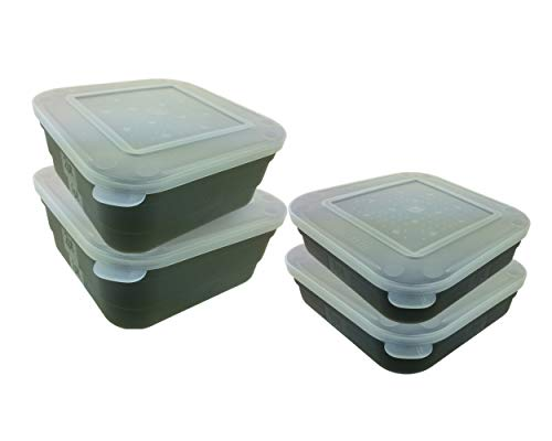 4 Fishing Maggot Bait Box Tub 2 x 2 Pint & 2 x 1 Pint Bait Boxes Shatterproof ABS from Roddarch
