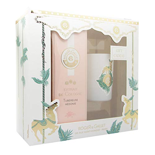 Roger Gallet Pack Tubereuse Hedonie Extrait De Cologne + Aromatic Candle from ROGER & GALLET