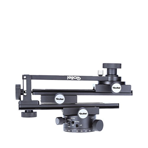 Rollei Panoramic Head 200 Mark II - Tripod head for multi row panoramic photos, Max. load of 3 kg and ARCA SWISS compatible - Black from Rollei