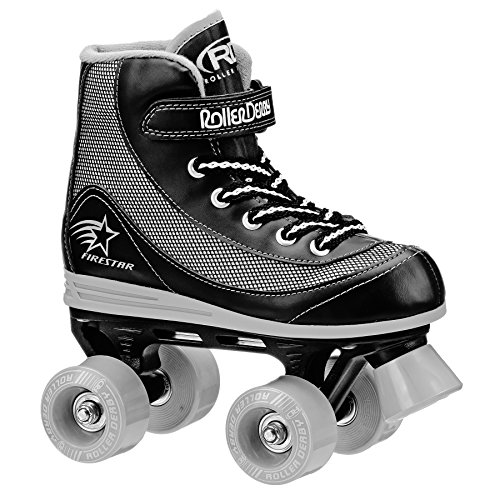 Roller Derby FireStar V2 Quad Skates - Black/Grey - Size - Junior UK 13 from Roller Derby