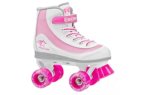 Roller Derby FireStar V2.0 White Pink Quad Skates from Roller Derby