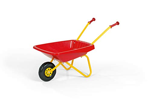 Metal Framed Wheelbarrow Red & Yellow from Robbie Toys