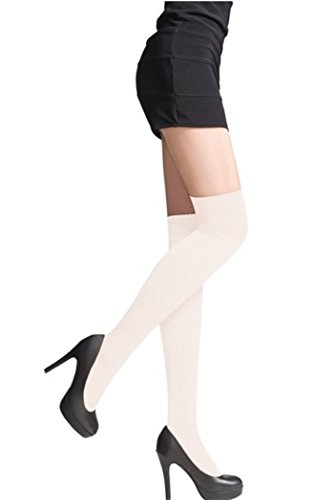 e94a4e0f5 LADIES OVER THE KNEE SOCKS LADIES THIGH HIGH SOCKS by Sentelegri- 22  Colours (Ivory