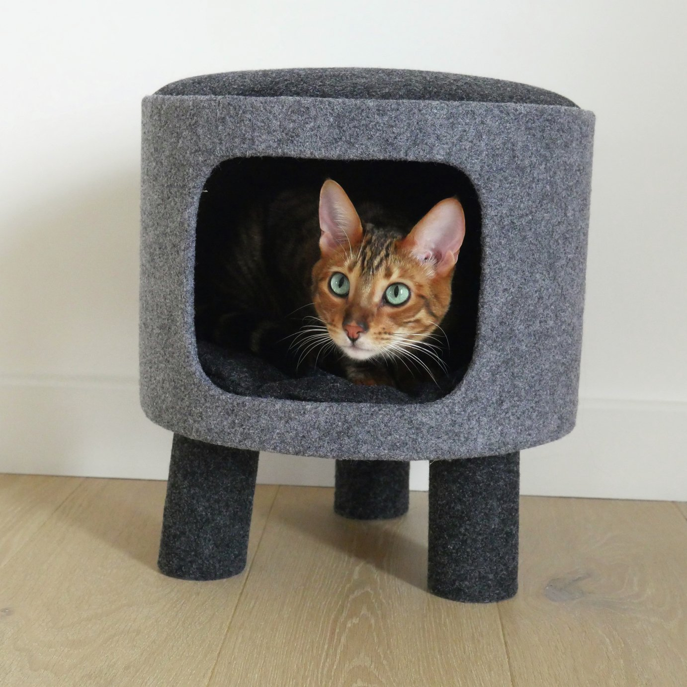 Rosewood Cat Stool from Rosewood Cat Collection