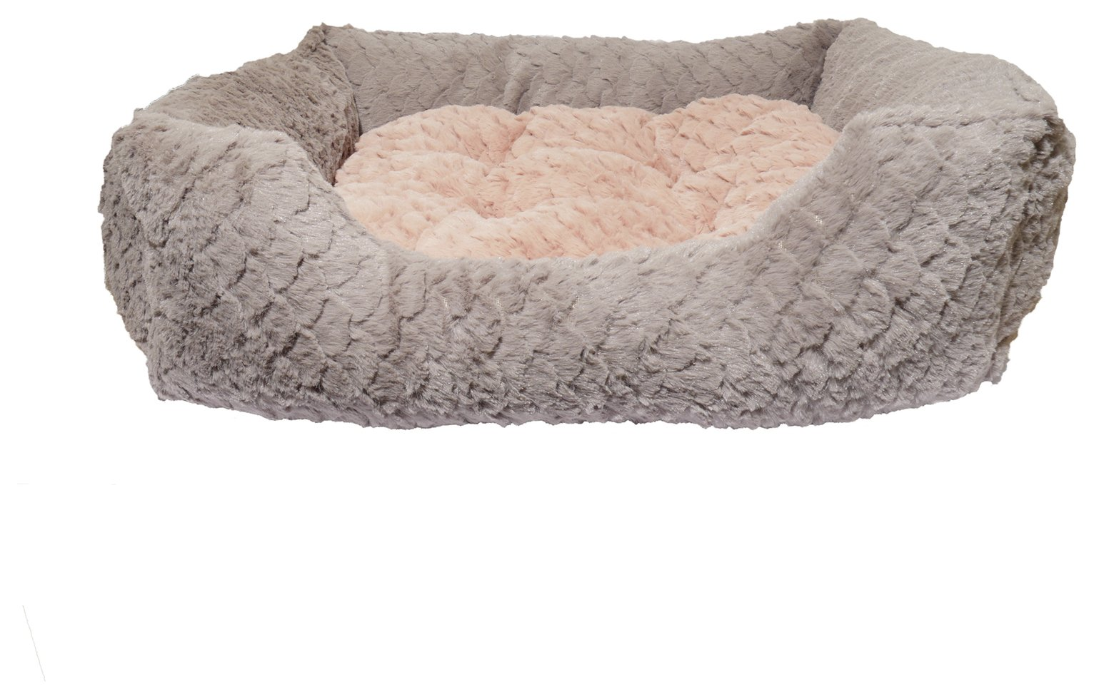 Rosewood Grey and Pink Square Pet Bed - Large from Rosewood