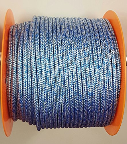 Rota Melange Pre Stretched Polyester Braid on Braid rope 4mm - 12mm Priced per meter (Blue, 8mm) from Rota
