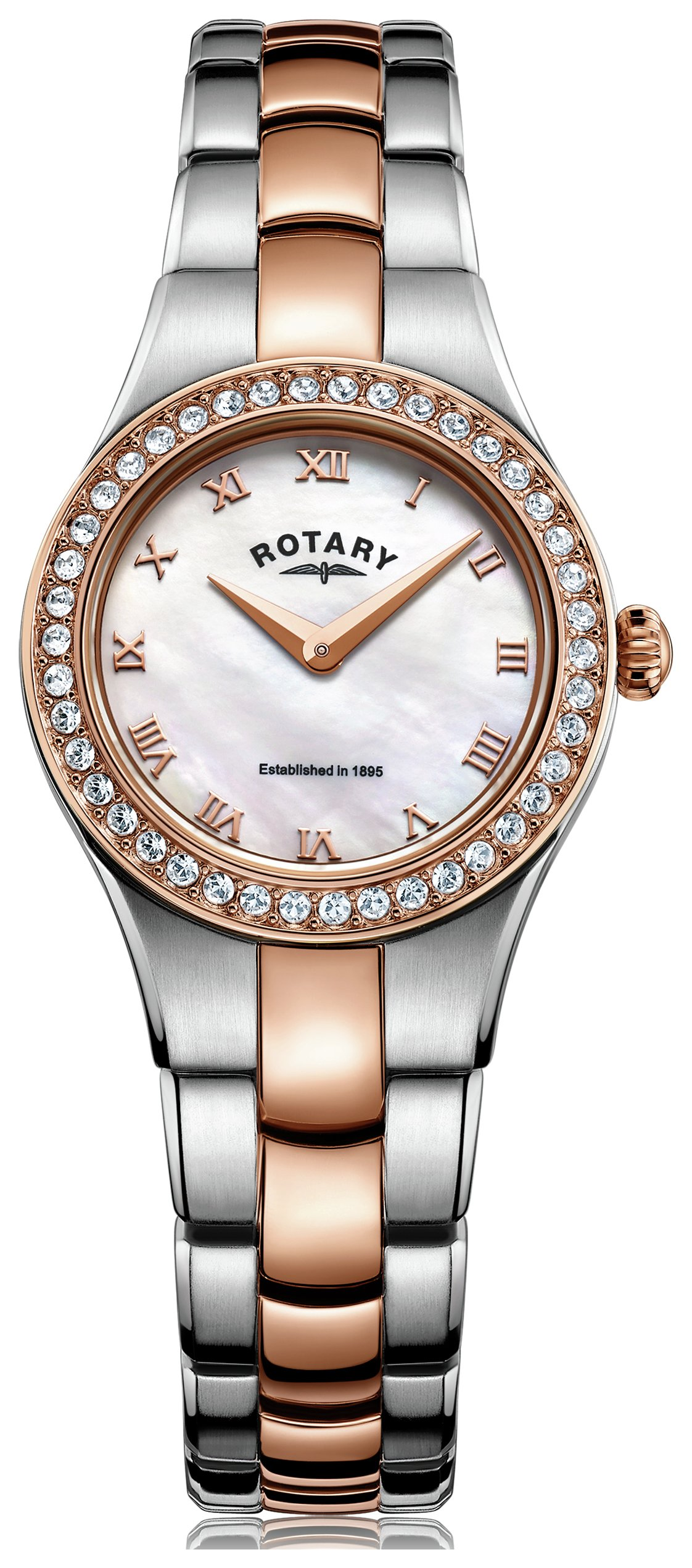 Rotary - Ladies Rose Gold Coloured and Stainless Steel - Watch from Rotary