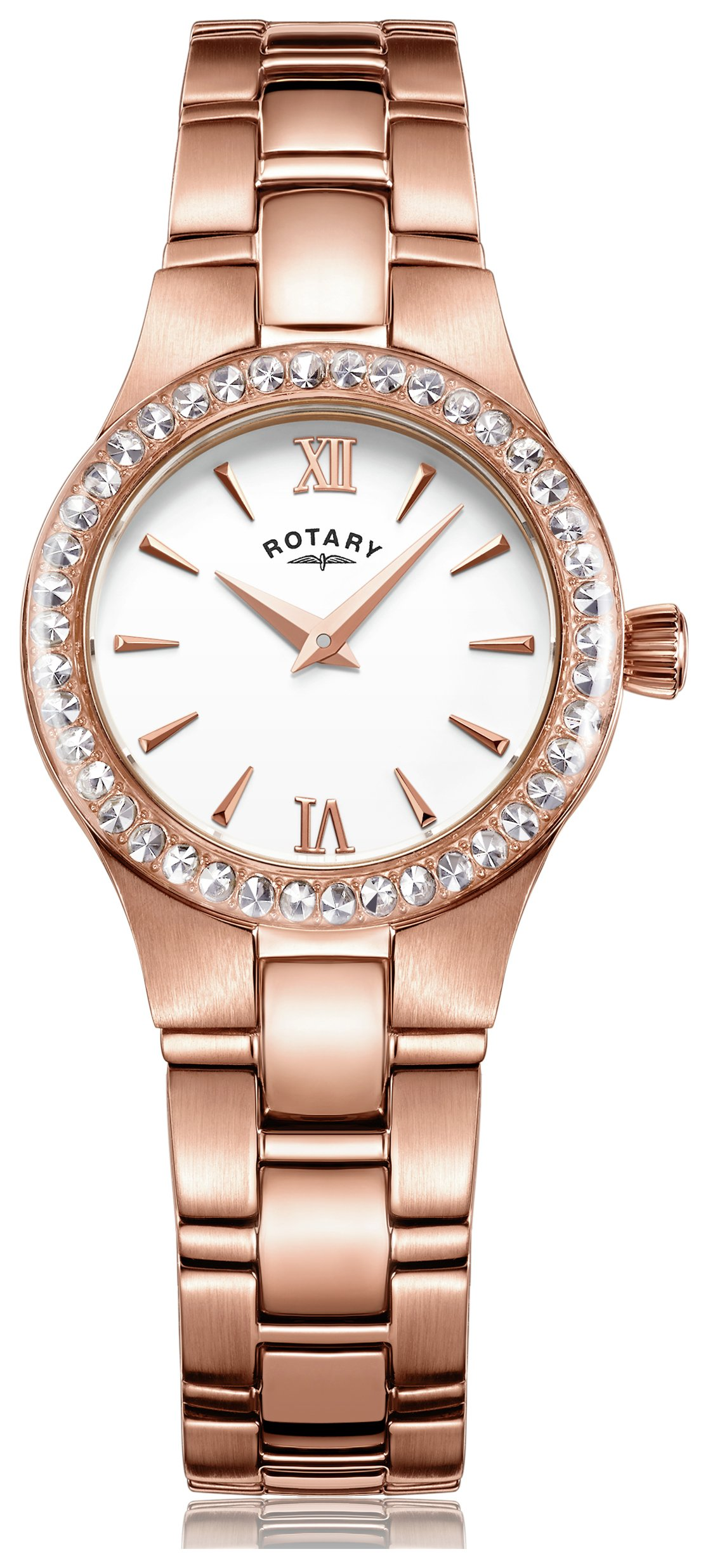 Rotary - Ladies Rose Gold Plated Bracelet - Watch from Rotary