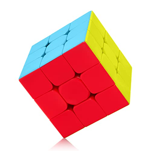 ROXENDA Speed Cube Profession 3x3x3 Speed Cube - Fast Smooth Turning - Solid Durable & Stickerless Frosted, Best 3D Puzzle Magic Toy - Turns Quicker Than Original from ROXENDA