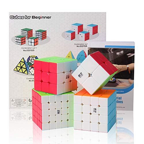 Roxenda Speed Cube set,Magic Cube Set of 2x2 3x3 4x4 5x5 Cube Puzzle with Gift Box,Secret Tutorial for Speed Cubes (2X2 3X3 4X4 5X5 Coloful) from Roxenda
