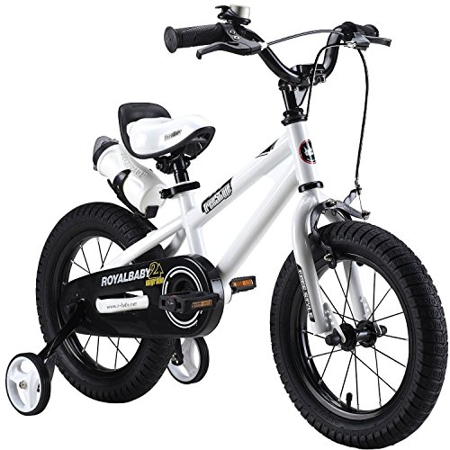 "Royalbaby Unisex Youth Freestyle boy's girl's stabilisers Kids Children Child Bike Bicycle, White, 18"" from Royal Baby"