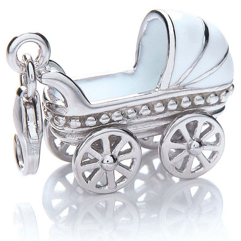 Ladies Royal London Sterling Silver Pram Charm from Royal London Jewellery