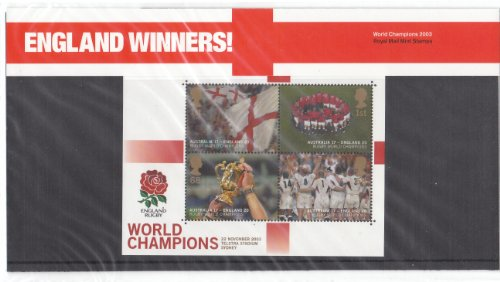 2003 Rugby England Winners Stamps in Presentation pack from Royal Mail