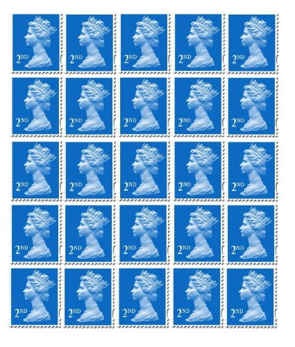 25 x 2nd Class Standard Stamps Royal Mail Post Office from Royal Mail