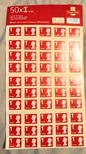 50 x Large Letter 1st Class Self-Adhesive Stamps Royal Mail (in 2 values) from ROYALMAI