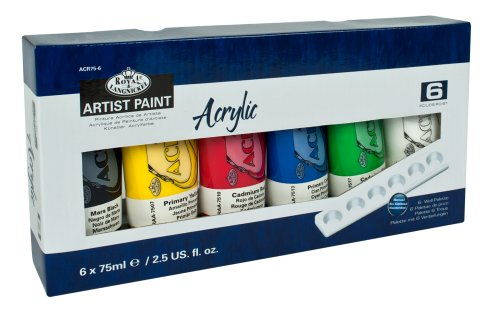 Royal & Langnickel 75ml Acrylic Painting Colour (Pack of 6) from Royal & Langnickel
