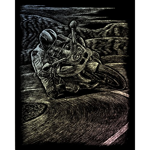 Royal & Langnickel Glow In The Dark Engraving Art A4 Size Motorcycle Racing Designed Painting Set from Royal & Langnickel
