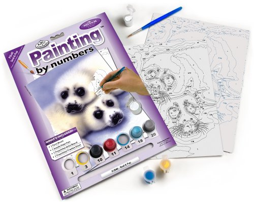 Royal & Langnickel Painting by Numbers A4 Size Seal and Pups Designed Painting Set from Royal & Langnickel