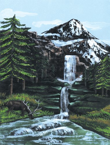 Royal & Langnickel Painting by Numbers Artist Canvas Series Mountain Waterfall Small Designed Painting Set from Royal & Langnickel