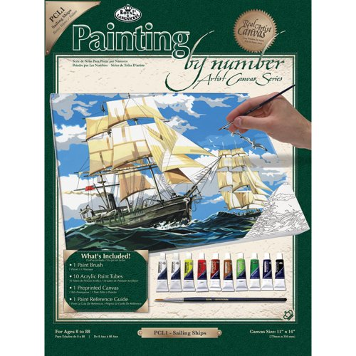 Royal & Langnickel Painting by Numbers Artist Canvas Series Sailing Ships Large Designed Painting Set from Royal & Langnickel