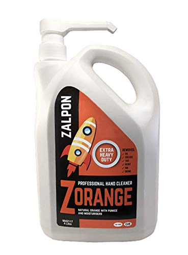 Rozalex Zalpon Zorange Extra Heavy-Duty Hand Cleaner Pump 4 Litre from Rozalex