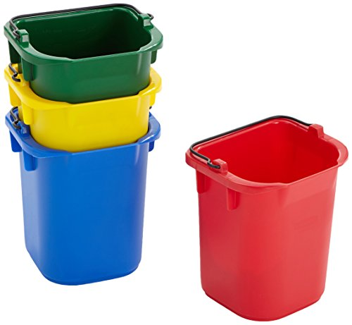 Rubbermaid 5qt Disinfectant Pail - Red/Yellow/Blue/Green from Rubbermaid Commercial Products