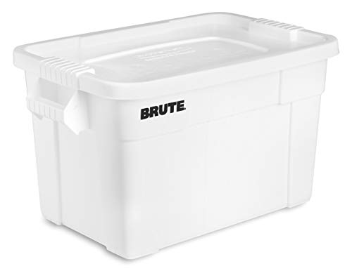 Rubbermaid 75.5L BRUTE Tote with Lid - White from Rubbermaid