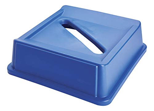 Rubbermaid Commercial Untouchable Paper Recycling Top - Blue from Rubbermaid